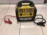 12v Car Battery starter / booster. Portable power station with compressor