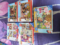 collection of disney toy story puzzles