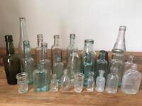 Mixed vintage bottles