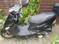 Fir sale peugeout vclic scooter mot till august in very good condition low milage