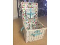 John Lewis picnic basket wicker hamper Brand New
