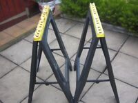 Plastic Folding Sawhorse/Trestle Sold In PAIRS