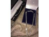 Sterling silver chain and bracelet open to offers
