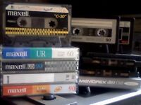 MAXELL / MEMOREX CASSETTE TAPES USED BLANKS x 12