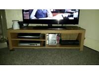 Oak Veneer TV Unit