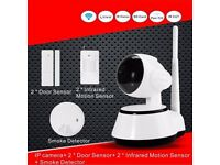 Home Security Camera Kit Alarm Smart Wireless Burglar Wifi Intruder System