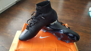 Nike Mercurial Superfly FG all black Size US 7.5