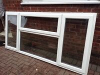 AS NEW DUNRAVEN UPVC DOUBLE GLAZED WINDOW -SIDE AND TOP OPENING