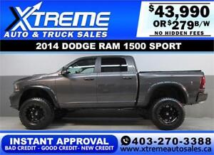 2014 DODGE RAM SPORT LIFTED *INSTANT APPROVAL* $0 DOWN $279/BW