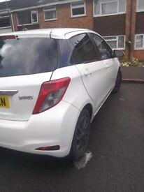 Toyota Yaris 2013 plate