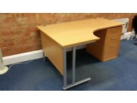 Office clearance of desks with pedestals