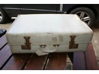 Shabby Old White suitcase, ideal for window display