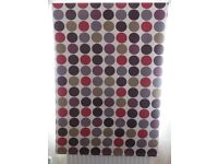 Roller blind – White background with multi-coloured spots - 120 x 170 cm