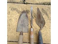 Vintage tools. Trowels.