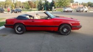 1986 mustang  convertable for sale
