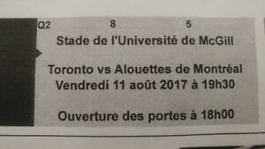Montreal alouettes vs Toronto (4 tickets) August 11