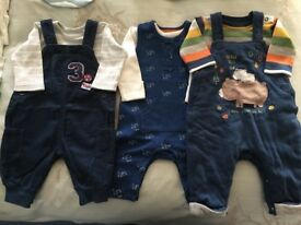 A collection (12 items) of baby clothes. Suitable for from birth to 6 months