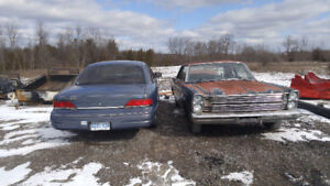 1966 Ford Custom and 1992 Crown Vic