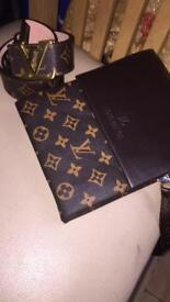 LV POUCH AND LV BELT