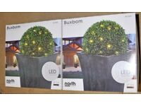 2 x Unused Boxed Buxbom 35 cm diameter LED Balls