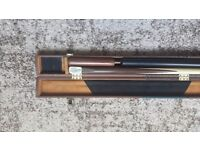 Craftsman cue one piece maple end joint with extensions. £170