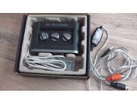 Avid Recording Studio with M-Audio Fast Track interface, Plus Midi to USB interface.