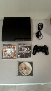 Playstation 3 bundle w/ Games, Controller and Headset