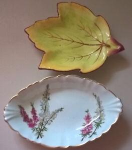 Vintage Foley Bone China 'Highland Heather' & Cara China Ceramic