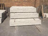 Rock Face Concrete Kick Boards / Plinths