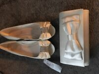 New Wedding ivory bag / matching shoes available