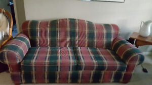 Matching sofa, chair and ottoman for sale