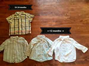 Boys dress shirts and vests 6 months to 24 months