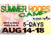 BASKETBALL SUMMER CAMP FOR KIDS (8 to 17 Yrs)