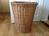 Vintage style round Wicker Ali Baba laundry or other basket - very clean and from smoke free home