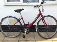 "Dutch style Raleigh Caprice town bike. 17"" Frame. 700cc Wheels. 3 gear. Fully Working"