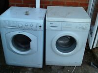 Two washing machines for spares or repairs.