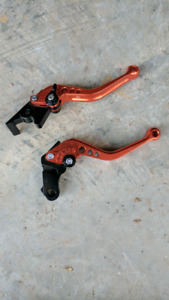 Honda CBR Clutch/Brake Lever Handles - Orange