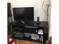 Two shelf tv stand- brown