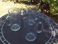 3 x 'Pimms' Style glass jugs - IKEA 19 cm tall x 10.5 diameter