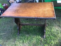 Solid wood table needs some tlc but very solid