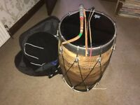 North Indian Dohl Drum with case, VGC