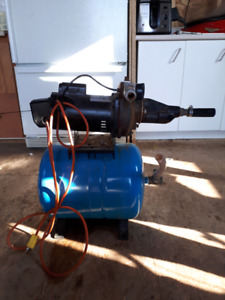 Water pump  with tank and water heater