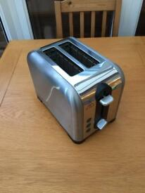 Russell Hobbs Toaster Brushed Chrome - Great Condition