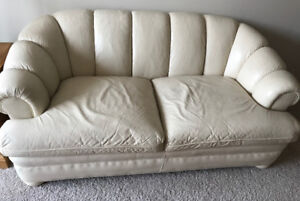Limited edition Barrymore leather loveseat