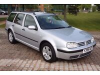 2001 VOLKSWAGEN GOLF 1.6 SE AUTOMATIC, PETROL, ESTATE, LONG MOT, FULL SERVICE HISTORY, P/X TO CLEAR