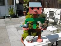 robot pot plant stand painted or paint it your own color