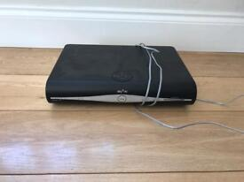 Sky Hd Box with Remote, power and telephone cables