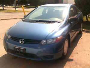 2008 HONDA CIVIC DX..COUPE..CERTIFIED & E-TESTED