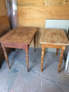 Two Rustic Pine Tables