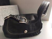 Coach hobo-ish black leather purse